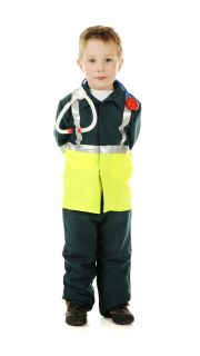 Children's Kids Boys and Girls Paramedic Doctor Surgeon Fancy Dress Up Costume