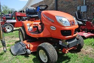 "2005 4WD 21HP Kubota GR2100 Riding Lawn Mower Garden Tractor 52"" Deck HST Clean"