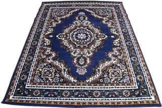 Persian Oriental Woven 5x8 Area Rug Carpet Navy Blue Actual Size 5'2 x 7'0