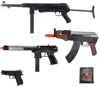 Airsoft Lot WWII German Mp40 Rifle Folding Stock Pump UZI Shotgun AK 47 BB Gun