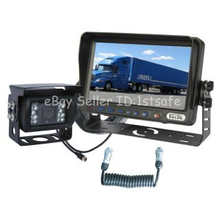 "Horse Trailer Rear View Back Up Reverse Camera RV System 7"" LCD"