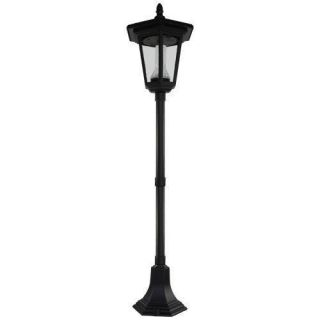 PL04 Solar 'Heritage' Post Pole Light Outdoor Lighting Security Safety Yard