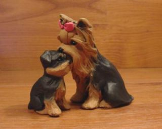 Original Yorkie Yorkshire Terrier Dog Sculpture Claydogz Mandyo OOAK