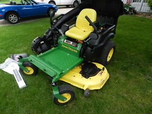 "John Deere Z445 Zero Turn Riding Lawn Mower w Power Flow Bagger 54"" Deck 234 Hrs"