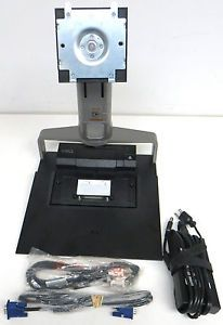 Dell E FPM Monitor Stand RM361 w Dell E Port Replicator PRO3X T4HD7 A00 Bundle