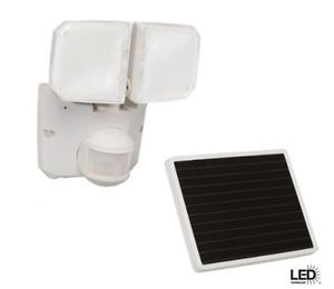 Defiant 180 Deg Outdoor Motion Activated Solar Powered LED Security Flood Light