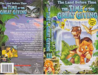 The Land Before Time The Time of The Great Giving VHS PAL Video Volume 111