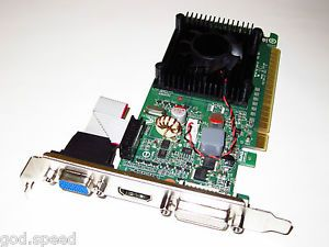 512MB NVIDIA GeForce PCI E x16 Dual Monitor Display View Video Graphics VGA Card