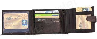 New Lovely Quality Men's Soft Black Leather Wallet