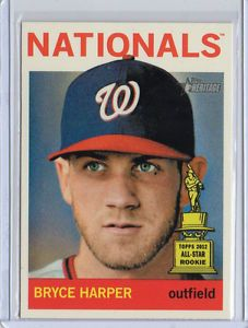 Bryce Harper 2013 Topps Heritage High Number SP Parallel 440 RARE Nationals MLB