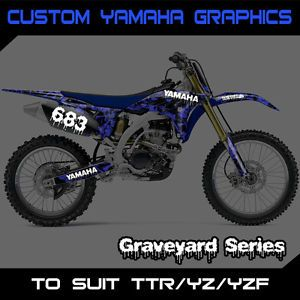 Custom Yamaha Graphics Kit Number Backgrounds TTR YZ YZF 50 85 125 230 250 450