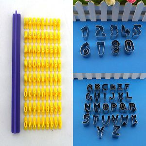 Number Alphabet Letter Molds Fondant Cake Decorating Cookies Cutter Baking Tools