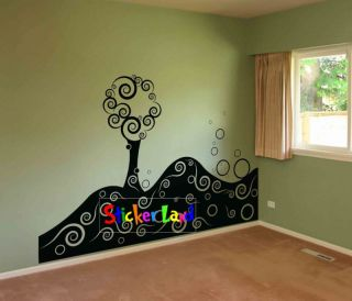 Wall Art Removable Vinyl Decal Sticker Nursery Big Abstract Tree 6ft Long