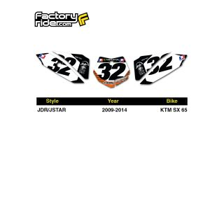 2009 2014 KTM SX 65 Dirt Bike Graphics Motocross Custom Number Plates