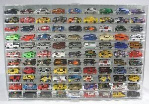 NASCAR Hot Wheels 1 64 Diecast Display Case 99 Angled Shelves Car Compartment