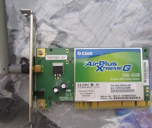 D Link BWLG520NA B3 High Speed 2 4GHz 802 11g Wireless 108Mbps Low Pro PCI
