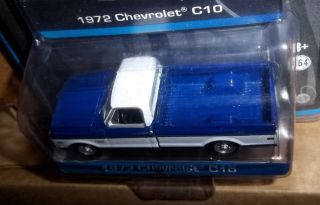 Greenlight 1 64 Chevy C10 1972 Cheyenne Pickup Truck Black Pinstripe