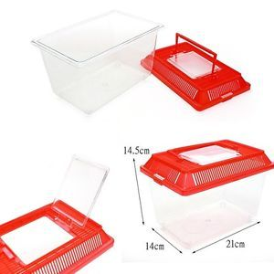 Portable Pet Small Animal Habitat Insect Bug Fish Hamster Mouse Cage Box House