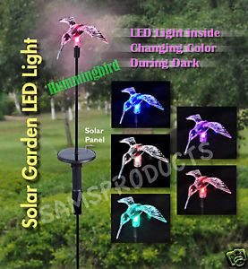 Garden Solar LED Chameleon Light Stick Hummingbird