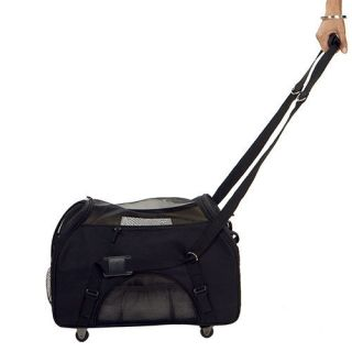 Bergan Pet Dog Cat Wheeled Comfort Carrier Tote Crate Airline Approved Large New