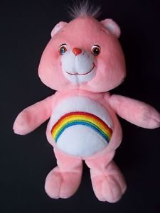 "Care Bear Cheer Bear Pink Care Bear 10"" Plush 2002"
