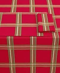 New Lenox Table Linens Holiday Gatherings Plaid Collection Tablecolth Runner