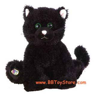 Webkinz Virtual Pet Plush Black Cat 7 inch New Unused Code Tag