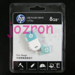 HP V175W 8GB 8g USB Flash Pen Drive Memory Disk Stick