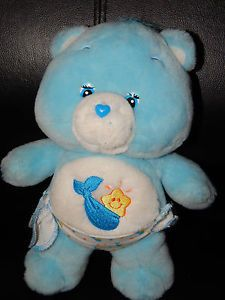 "2002 Care Bears 10"" Baby Tugs Plush Care Bear Blue Diaper Stuffed Animal Toy GUC"