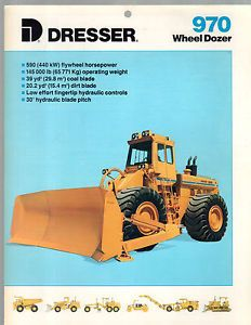 1988 Dresser 970 Wheel Dozer Tractor Construction Equipment Brochure Catalog