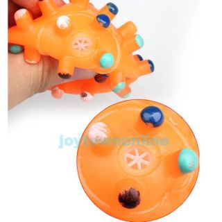 Pet Dog Puppy Cat Animal Squeaky Squeaker Quack Sound Toy Chews Ball Colorful