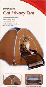 Cat Kitten Privacy Tent Hides Litter Box Fits Most Standard Size Boxes