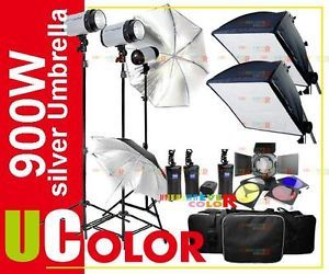 900W Strobe Studio Flash Light Kit Monolight Lighting OS3