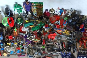 80's 90's Action Figures Weapons Parts Accessories Lot Star Wars Gi Joe MOTU