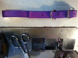 Dog Leash and Collar Set 1 Webbing 2 Ply Heavy Duty USA