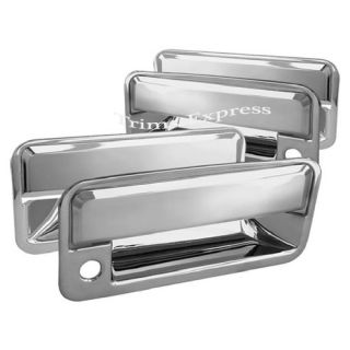 1988 1998 Chevy GMC CK Pickup 4 Door Chrome Door Handle Covers w PSKH