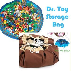 New Toy Storage Bag Toys Cleanup for Lego Blocks Dolls Play Mat for Kids