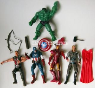 New Super Hero Marvel The Avengers Lot of 7pcs Action Figures Gift Toy
