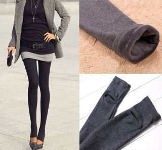 Winter Warm Stirrup Fur Fleece Lined Faux Twinset Skirt Leggings Pants P2296