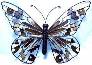 Butterfly Wall Hang Metal Art Patio Outdoor Decorative Garden Landscape Decor