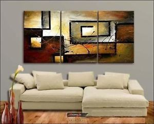 Hot Sale Modern Abstract Huge Wall Decor Art Oil Painting 3pc Canvas No Farme