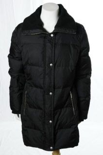 Michael Michael Kors Black Puffer Jacket Down Coat Winter Cold Weather Large