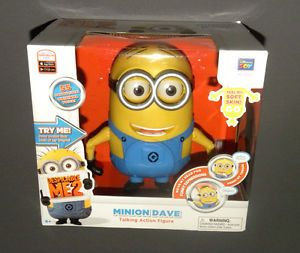 Despicable Me 2 ME2 Minion Dave Talking Action Figure Interactive Doll New