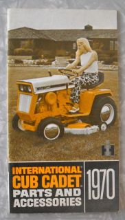 1970 International Harvester Cub Cadet Tractor Parts Accessories Catalog