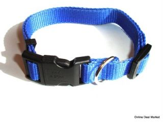 Brand New Dog Puppy Pet Leash Collar Set Combo Matching Adjustable Blue