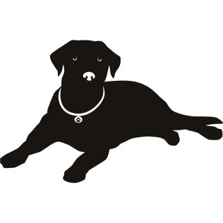 Labrador Nose Silhouette Dogs Wall Art Stickers Wall Decal Transfers