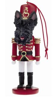 Scottie Scottish Terrier Dog Christmas Ornament Nutracker Soldier Holiday Xmas