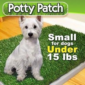 Indoor Pet Dog Puppy Potty Trainer Pad Patch Grass Turf Mat Toilet 3 Layers