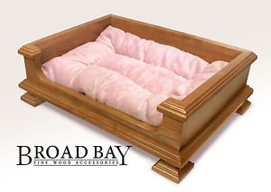 Handcrafted Best Solid Cherry Wood Dog Bed Pet Beds for Small Dogs Made in USA