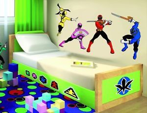 Power Rangers Wall Decor Vinyl Decal Sticker Art Kids Room